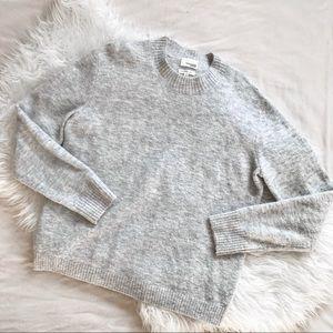 Aritzia Wilfred Free Heather Gray Crewneck Sweater